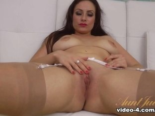 Hottest pornstar in Amazing Stockings, Masturbation porn clip