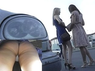 Golden-Haired acquires her panty fur pie discharged upskirt