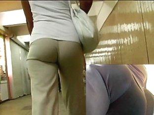 Hot butt in panties teasing me