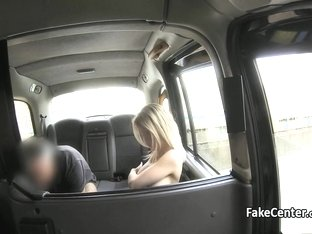 Crazy taxi driver fucks busty blonde