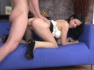Evelyn Cage in beautiful slut makes a hot deep throat video