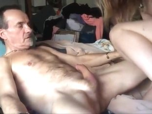 Blonde mature lady fucking her husband