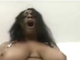 Breasty dark pornstar
