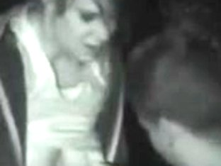 Horny couple is making out in amateur voyeur video