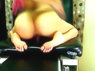 Pink Haired Beauty Riding her Sex Toy Eager