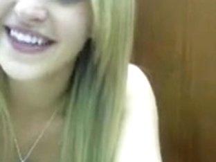 Blonde teen slut teases on a webcam