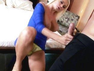 Stiletto goddess Nikita Von James gets her sexy feet fucked and licked