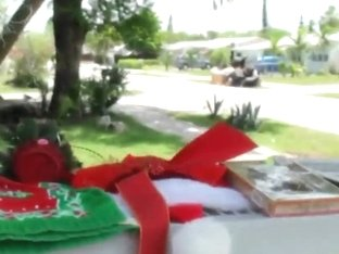 A Latina MILF is seduced at some yard sale