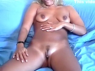 So sexy painted blonde wife is filmed on video by lusful husband and share