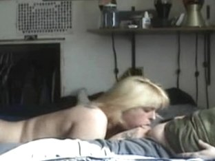 blonde chick sucking cock