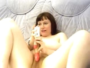 Chubby brunette with huge tits on webcam