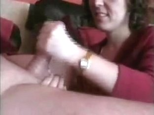 Sweet lady blows on a dick