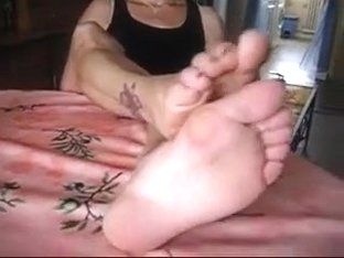 Amazing foot fetish clip with my wife exposing her feet