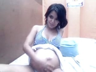 Pregnant teen on a striptease video