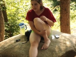 BIG tits legal teen fuckbuddy outdoors topless and more fun times