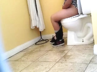 My lusty clip with hot slut sitting on a toilet