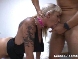 Amazing pornstars Leyla Black, Angelica Castro in Horny Threesomes, Lesbian sex video