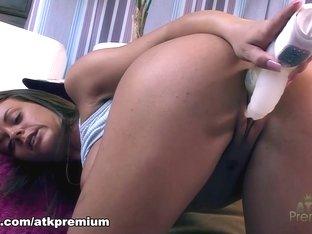 Exotic pornstar Rahyndee James in Incredible Masturbation, Big Tits sex movie