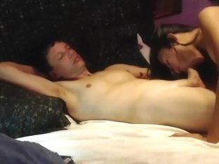 Brunette shemale and her boyfriend suck each others cocks