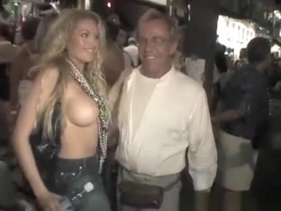 Flash tits in public