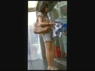 walk behind short skirt girl :2 (China)