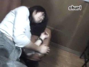 Chicks get cum on their butts in Asian masturbation video