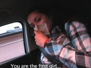 PublicAgent: Cute brunette Russian is fucked against my car