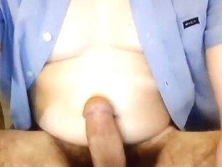 Fascinating homosexual is having a good time in a small room and shooting himself on web cam