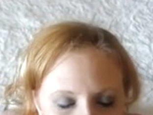 huge wife facial