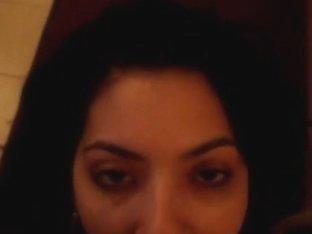 Wife licking my cum off her lolipop