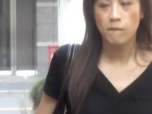 Skirt sharking with a little bit of pussy hair of an Asian