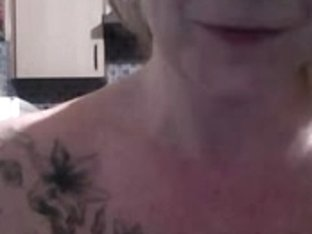 Amateur blonde milf on webcam