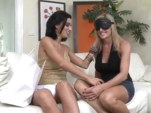 Lesbian MILF can't forget about their tits