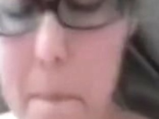 GF in glasses bonks on camera