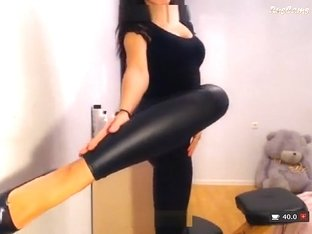 EVA2292 in leather pants