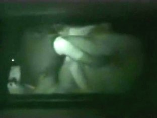 Voyeur tapes a party couple having sex in their car at night