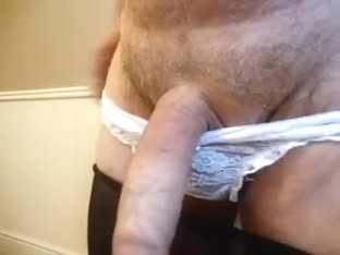 wanking a  load into  panties