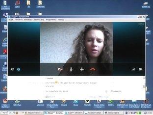 Crazy Amateur record with Brunette, Webcam scenes 2