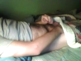 Hawt fellow on webcam jerked off for me but his small strapon turned me off