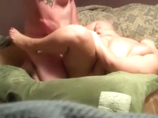 Bbw has missionary and doggystyle sex on the bed with pussy cumshot