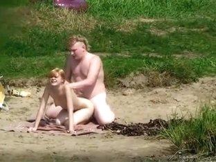 Naked blonde was enjoying a swim