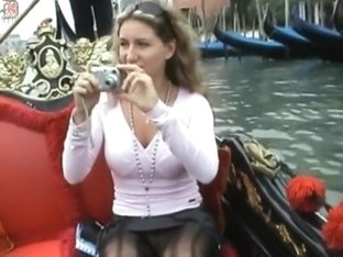 Romantic gondola ride with a hot slut