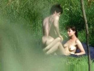 river shore naked couple sex