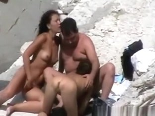 Orgy in nudist beach