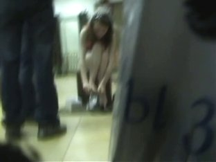 Smoking hot video of a bitch trying out new shoes