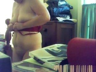 Spycam catches Grandma Changing
