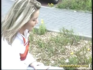 cute teen picked up for first anal
