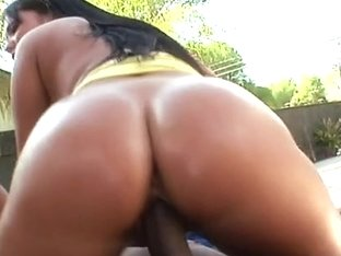 Hard black penis for hot Angelica Heart
