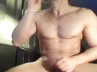 Fascinating boyfriend is jerking off at home and filming himself on webcam