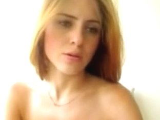 Sexy Golden-Haired Hottie Rides Her Chair Like It's Her Boyfriend